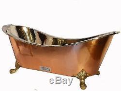 Copper Bathtub PRINCESS Nickel Inside MINOR DAMAGED