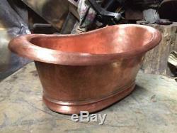 Copper sink Handmade Basin Antique copper Exterior-Hammered internal