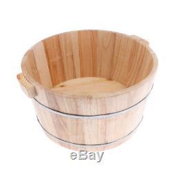 Deep Wood Foot Basin Tub Foot Soaking Bucket with Lid For Foot Bath Spa