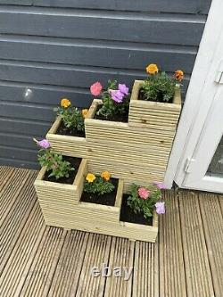 Deluxe XL Decking Planter 6 Tier Multi-way Handmade High Quality