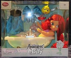 Disney Animators' Collection 16 Toddler Doll Ariel Bath Tub Deluxe Set