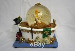 Disney Scrooge McDuck In The Bath Tub Money Figurine Blowing Snowglobe