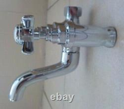Elizabethan Classics Claw Foot Bath Tub Filler Cross Handle Chrome Faucet KBin