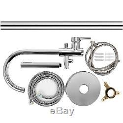 Floor Mount Free Standing Bathtub Faucet Tub Filler Mixer Tap Handheld Shower