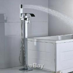 Floor Mounted Single Lever Bath Faucet Freestanding Shower Mixer Tub Filler Tap