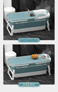 Folding Bathtub Portable Bathroom Capacity Soaking Tub PVC SPA Massage Barrel