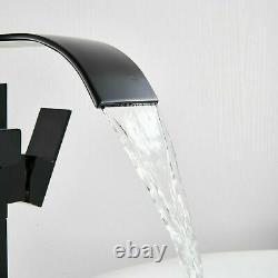 Freestanding Bath Mixer Bathtub Tap Handheld Shower Bathroom Floor Mounted Black