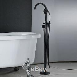 Freestanding Bathtub Faucet Floor Mounted Bath Tub Filler Faucet Hand Shower