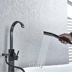 Freestanding Bathtub Faucet Tub Filler Floor Mounted Mixer Tap Oil Rubbed Bronze