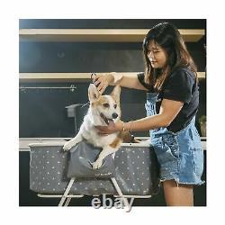 Furesh Portable Elevated Folding Dog Bath Tub Wash Station Indoor Outdoor Gray