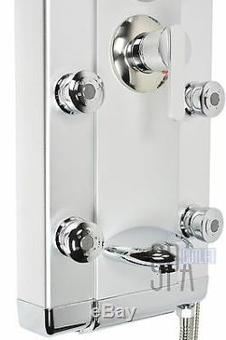 HOT Aluminum Rainfall Shower Panel Towe with Tub Spout Massage Jets Spa 2