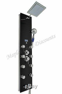 HOT Aluminum Shower Head Panel Tower Tub Spout Massage Jets Spa LED Display 2