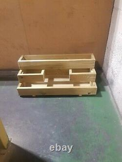 HandMade X-Large Decking planter 3 Tier Ethically sourced Wood 100cm version