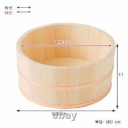 Hinoki Oke Pure Wood Bath Tub Pail L size Large Bucket 24cm Relaxing spa Japan