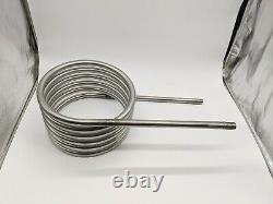 Hot tub heater coil with 3/4 BSP thread ends stainless steel outdoor water