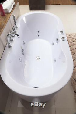 Hydrotherapy Whirlpool Jetted Bathtub Indoor Soaking Hot Bath Tub FREESTANDING