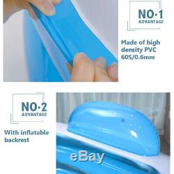 Inflatable Bathtub Portable PVC Folding Adult Warm Air New Blue swimming pool
