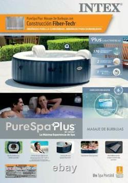 Intex PureSpa Inflatable Bubble Jets 6 Person Hot Tub and Seat Inserts (2 pack)
