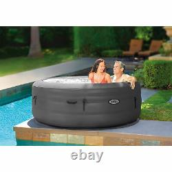 Intex SimpleSpa 4 Person Portable Inflatable Hot Tub Jet Spa with Pump and Cover