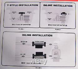 Jetted Bathtub Heater Hydro-Quip Heat Master Tee Style 1.5KW Output, 120volts