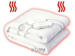 KING SIZE ELECTRIC DUAL CONTROLLER HEATED COSY UNDER BLANKET 150X140cm THERMAL