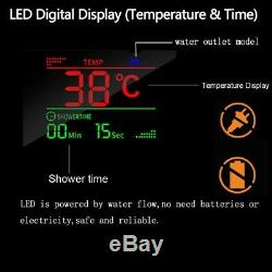 LED Shower Panel Tower System Rainfall Waterfall Shower Faucet Bathtub Faucet