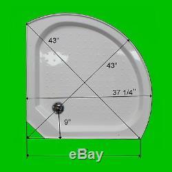LUXURYSHOWERROM L90S08S-HD (HEAVY DUTY) STEAM SHOWER Corner 36 x 36 x 84