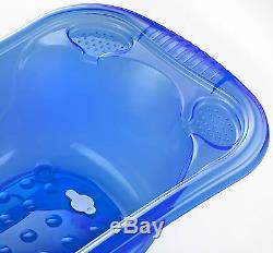 Large 50 Litre Aqua BLUE Clear Transparent Baby Bath Tub