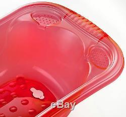 Large 50 Litre Aqua PINK Clear Transparent Baby Bath Tub