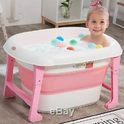 Large Baby Tub Children Folding Baby Bath Tub Can Swim Newborn Supplies Children