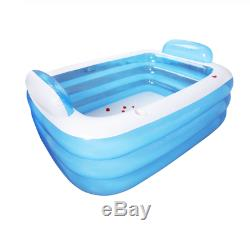Large Inflatable 2 Person Bathtub Adult Outdoor Indoor Hot Tub Big Portable Bath
