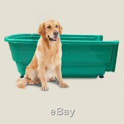 Large Pet Dog Washing Portable Bath tub Grooming Station with Ramp, Blue