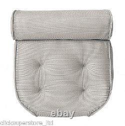 Large Waterproof Foam Bath Tub Pillow Bathroom Spa Suction Cushion White OL11