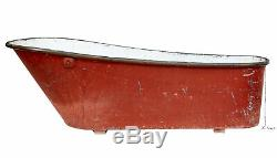 Late 19th Century Painted Copper And Tin Bath Tub