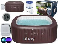Lay-Z-Spa Bestway Maldives Hydrojet Pro 7-8 Person Hot Tub 60033 UK Plug