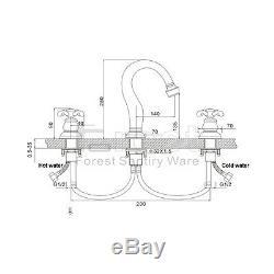 Luxury Tub Widespread 3pcs Bath Faucet For Basin Mixer Brass Gold&Black Taps