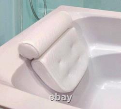 Luxury Waterproof Foam Bathtub Back Pillow Bathroom Spa Suction Cushion OL11