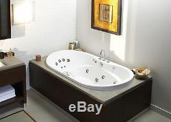 MAAX LIVING 72 x 36 ACRYLIC OVAL DROP-IN BATHTUB OPTIONAL WHIRLPOOL