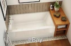 MAAX RUBIX 60 x 32 x 22 AFR ACRYLIC ALCOVE BATHTUB WITH APRON & TILING FLANGE
