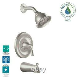 MOEN Banbury Tub and Shower Faucet with Valve in Spot Resist Brushed Nickel