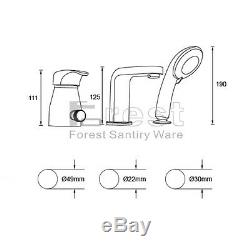 Modern Widespread Bathroom Bathtub Roman Tub Filler Faucet with Hand Shower Set