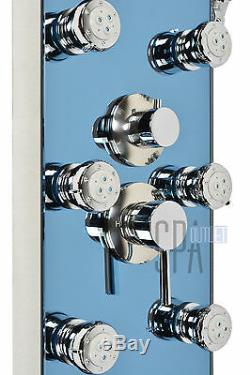 Multi Function Stainless Steel Shower Head Panel Tower Tub Spout Massage Jets