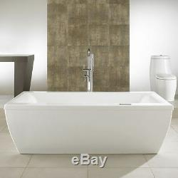 NEPTUNE SAPHYR MODERN 72x38 FREE STANDING BATH TUB WITH WHIRLPOOL SYSTEM