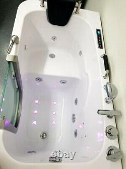 New 54 Computerized Hydrotherapy Whirlpool Air/Water Jetted Walk-In Spa Bathtub
