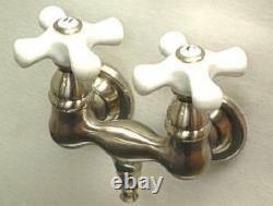 New Clawfoot Tub Faucet Satin Nickel CC39T8