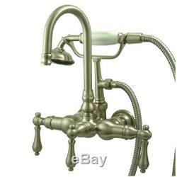 New Clawfoot Tub Faucet Satin Nickel CC7T8