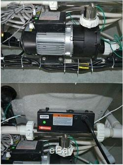 New Jetted Whirlpool Hydrotherapy Bathtub Bath Tub with Heat Radio Chromatherapy