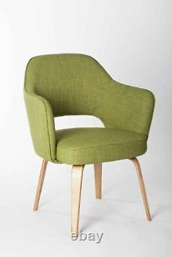 New Kim Tub Visitors Office Chair Lounge Armchair Bedroom Chairs Green Fabric