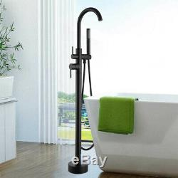 ORB Floor Mount Bathtub Faucet Free Standing Tub Filler Hand Shower Mixer Tap