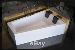 Offset Corner Bath INTIMA DUO SPACE SAVER 1700 x 1250 mm 170 x 125cm Bathtub